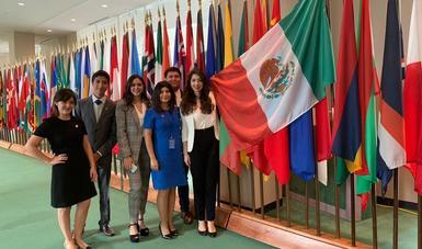 Delegados Juveniles 2018 en el 73° periodo de sesiones de la Asamblea General de la Organización de las Naciones Unidas