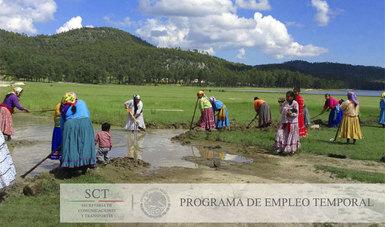Mujeres en Programa de Empleo Temporal