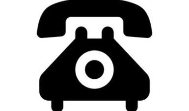 Teléfono de color negro