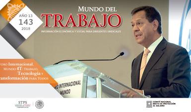 Portada de la Revista Mundo del Trabajo No. 143