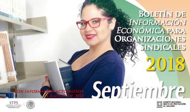 Portada del Boletín Económico -Septiembre 2018