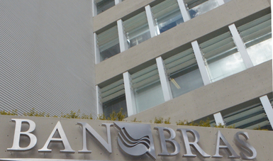 En la imagen se observa el edificio de Banobras, ubicado en Santa Fe, en la delegación Álvaro Obregón, de la Ciudad de México