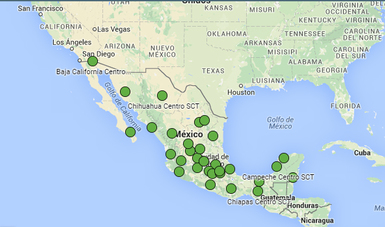Mapa Centros SCT