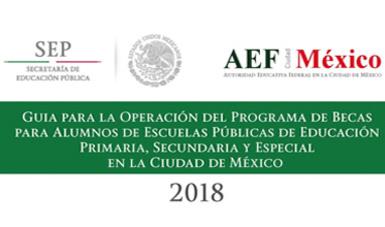 Becas para Alumnos de Escuelas Oficiales de Educación Primaria, Secundaria y Especial en la Ciudad de México