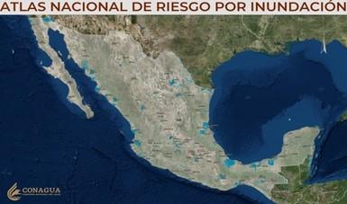 Imagen satelital de un mapa de la república mexicana.