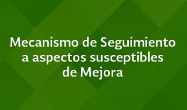 Mecanismo de Seguimiento a aspectos susceptibles de Mejora - Marzo 2016