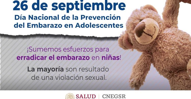 26 de Septiembre Día Nacional de la Prevención del embarazo en Adolescentes