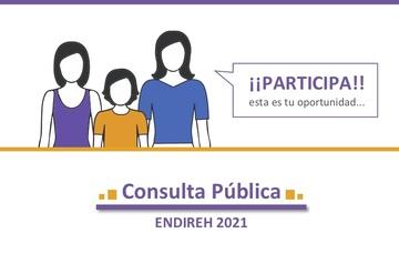 Participa en Consulta Pública de la Encuesta Nacional sobre la Dinámica de las Relaciones en los Hogares (ENDIREH)