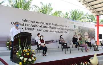 Inauguran autoridades federales y locales la Unidad Profesional Interdisciplinaria de Ingeniería, campus Palenque, del IPN