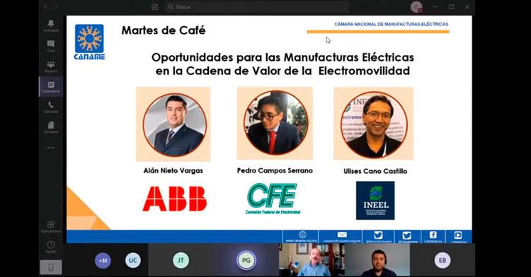 El Dr. Ulises Cano destacó la experiencia del INEEL en tecnologías aplicadas para la electromovilidad.