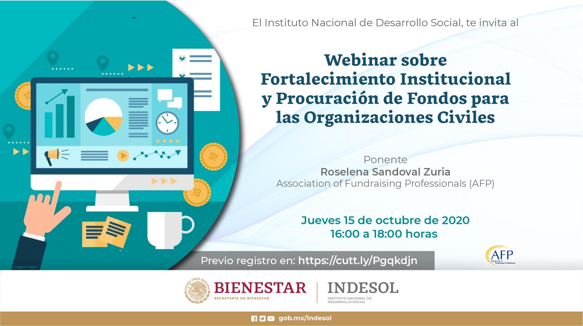Webinar sobre Fortalecimiento Institucional y Procuración de Fondos para las Organizaciones Civiles