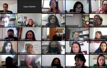 Personas asistentes al Encuentro Nacional Virtual con Grupos Estatales para la Prevención del Embarazo en Adolescentes (GEPEA) 2020