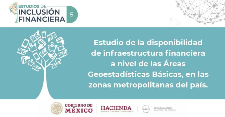 Disponibilidad de infraestructura financiera a nivel de AGEB en las zonas metropolitanas del Valle de México, Guadalajara y Monterrey