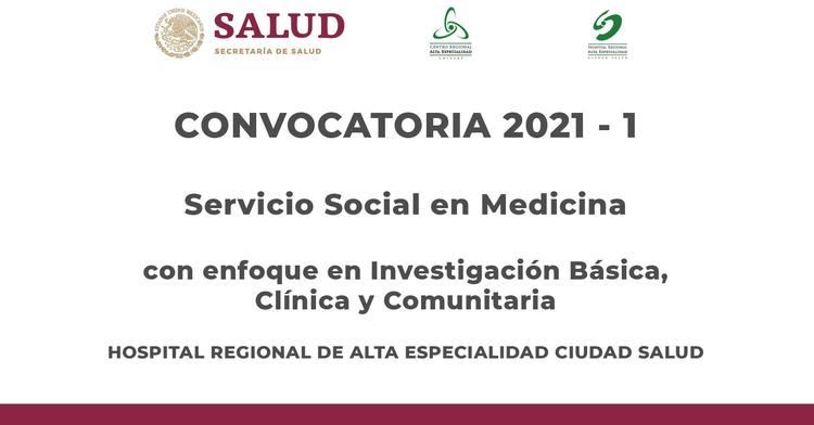 convocatoria 2021 Servicio Social Medicina
