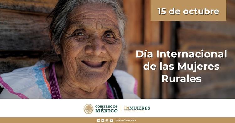mujer anciana de localidad rural y la fecha 15 de octubre