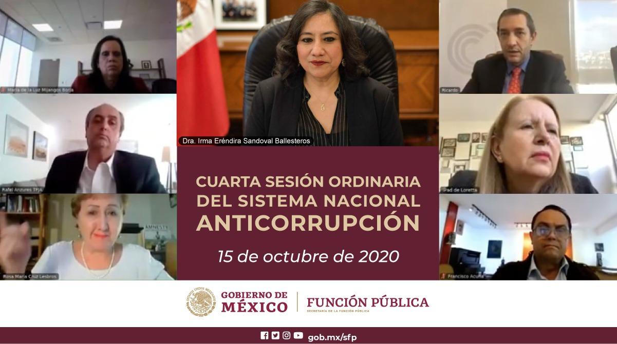 Secretaria Sandoval Ballesteros propone al SNA protocolo de actuación en materia de contrataciones públicas