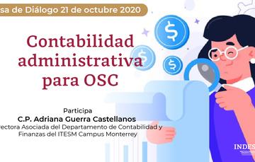 Mesa de Diálogo: Contabilidad administrativa para OSC