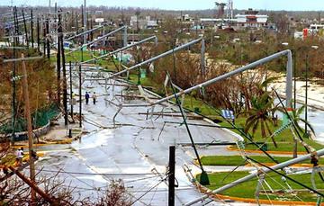 Estragos del huracán Wilma en Quintana Roo, 2005.