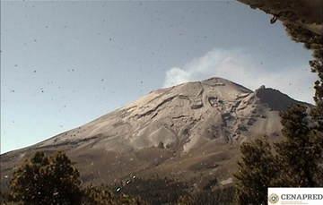 Se registraron 484 exhalaciones de baja intensidad y un microsismo volcanotectónico de magnitud 2.2.