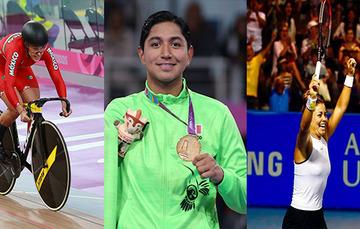 Jessica Salazar (izq.), Juan Diego García (centro) y Renata Zarazúa (der.), ganadores del PND 2020.