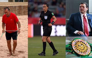 Jesús Salvador González Arreola (izq.), Lucila Venegas Montes (centro) y Mauricio Sulaimán (der.) ganadores del PND 2020.