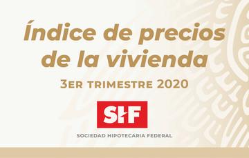 Índice precios SHF 3er. Trimestre 2020