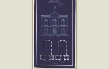 """Para conmemorar el Día Nacional del Libro, la Mapoteca Manuel Orozco y Berra presenta el: """"Proyecto arquitectónico para biblioteca y salón de actos en la Escuela Nacional de Medicina Veterinaria."""