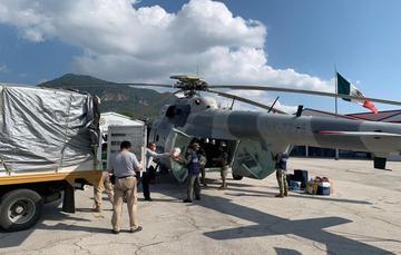 Realiza Marina Armada de México entrega de despensas Diconsa