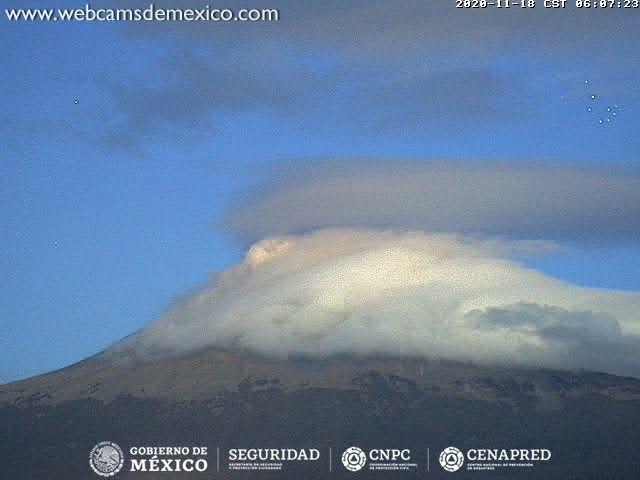 En las últimas 24 horas, mediante los sistemas de monitoreo del volcán Popocatépetl se identificaron 349 exhalaciones.