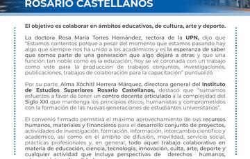 Concretan UPN y el Instituto de Educación Superior Rosario Castellanos impulso a proyectos conjuntos
