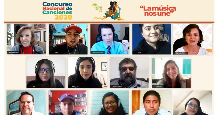 """Premian a los ganadores del  Concurso Nacional de Canciones 2020 """"La música nos une"""""""