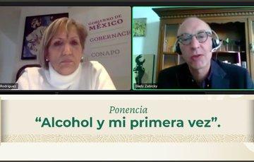 Secretaria General del #CONAPO, Gabriela Rodríguez y Comisionado Nacional contra las Adicciones, Gady Zabicky.