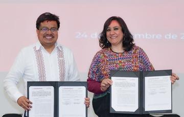 Secretaria Irma Eréndira Sandoval anuncia histórica inclusión de pueblos indígenas y afrodescendientes en el servicio público