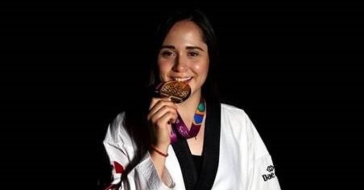 Para taekwondín mexicana, Daniela Martínez. Cortesía