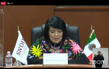 María del Rocío García Pérez, titular del SNDIF, advirtió que la discriminación es detonante de desigualdades y estas, a su vez, limitan el desarrollo de las sociedades.