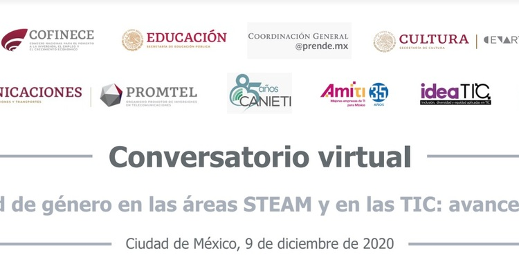 Conservatorio virtual Igualdad de género en las áreas STEAM y en las TIC: avances y retos.