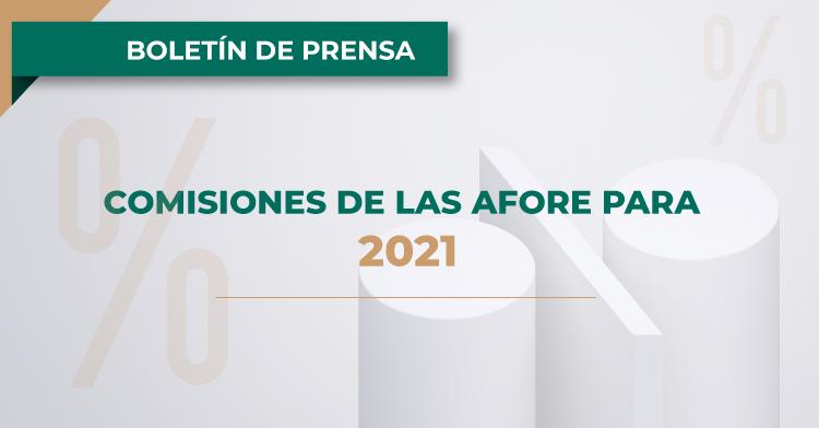 Comisiones de las AFORE para 2021