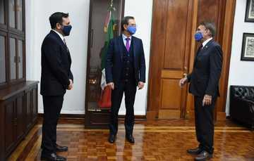 Toma protesta Esteban Moctezuma Barragán a Arturo Reyes Sandoval como Director General del IPN, para el periodo 2020-2023