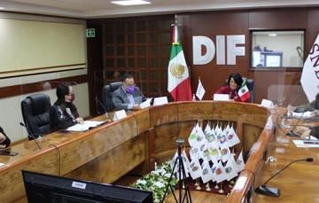 María del Rocío García Pérez, titular del SNDIF, al encabezar la Cuarta Sesión Ordinaria del Comité Técnico de Adopción 2020.