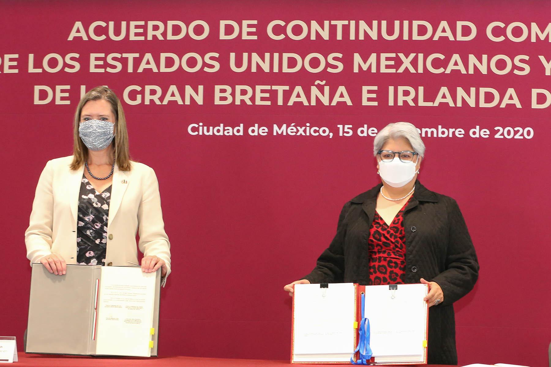 México y Reino Unido firman Acuerdo de Continuidad Comercial que mantiene el libre comercio entre ambos países