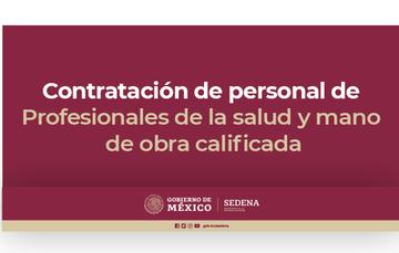 Contratación de personal de profesionales de la salud y mano de obra calificada.