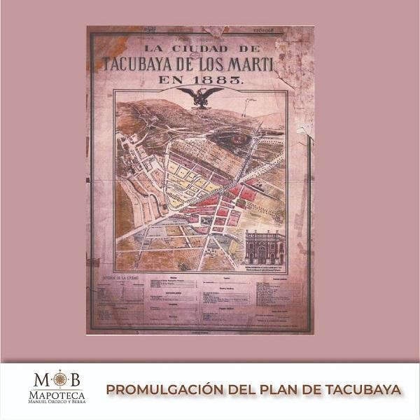 """Para recordar un año más del Plan de Tacubaya, la Mapoteca Manuel Orozco y Berra presenta el """"Primer croquis de la ciudad de Tacubaya de los Mártires""""."""