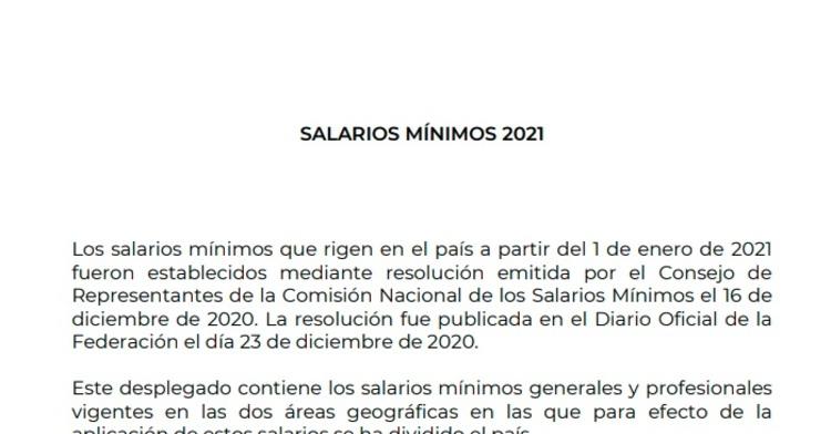 imagen portada tabla de salarios mínimos 2021