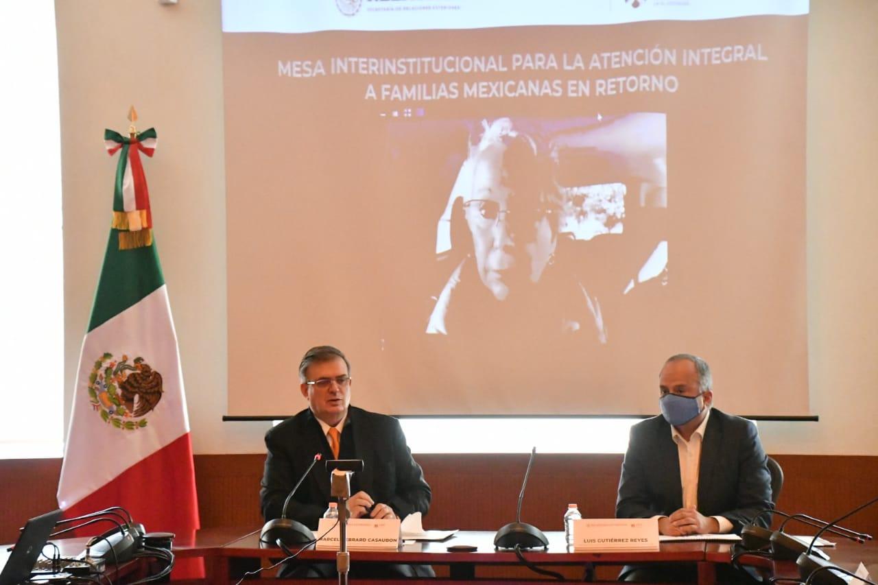 Gobierno de México articula mecanismo de atención a familias mexicanas en retorno