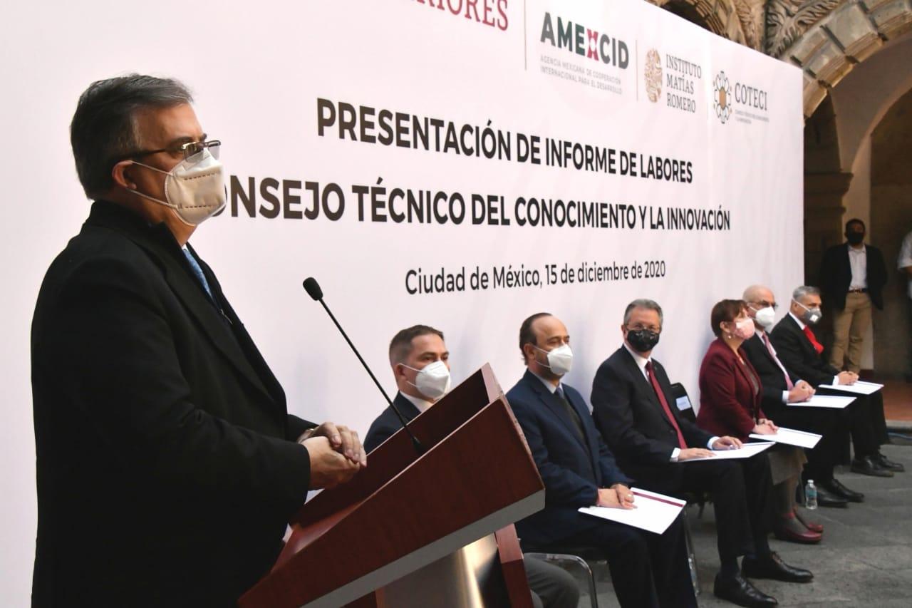Consejo Técnico del Conocimiento y la Innovación presentó su Informe de Labores y develó placa en honor al Dr. Mario Molina