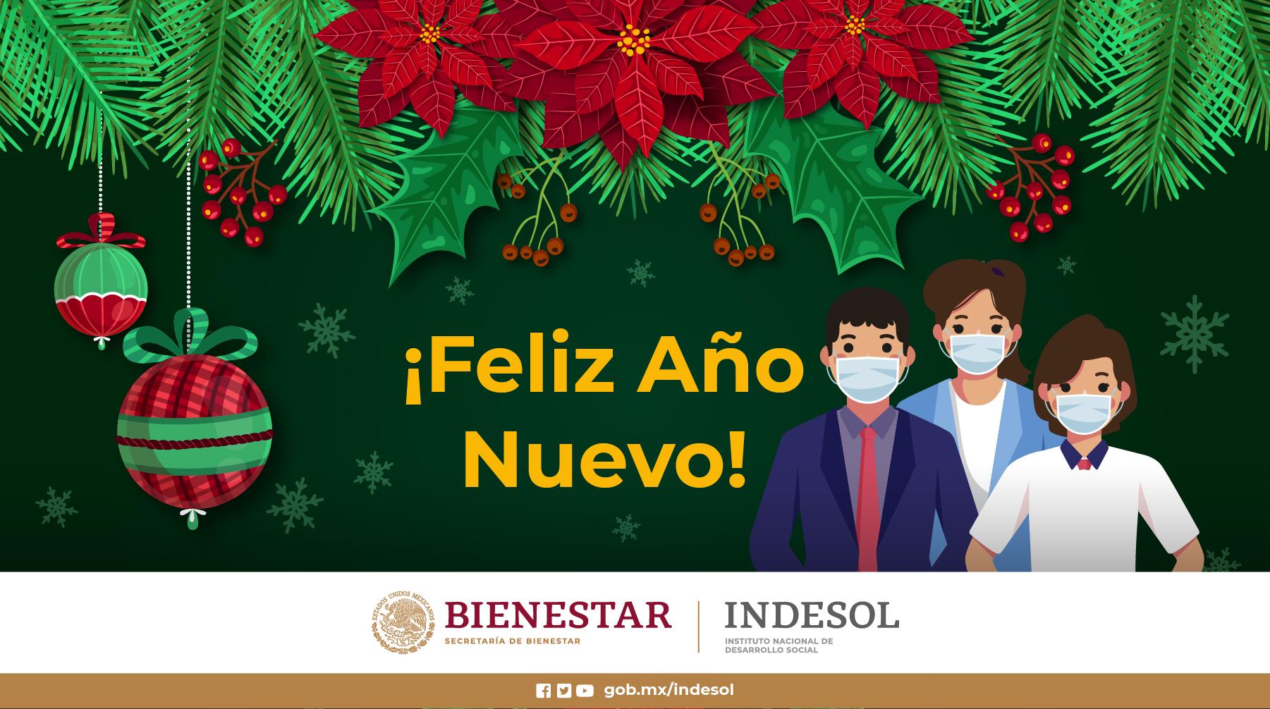 Desde el Indesol les deseamos ¡Feliz Año Nuevo!