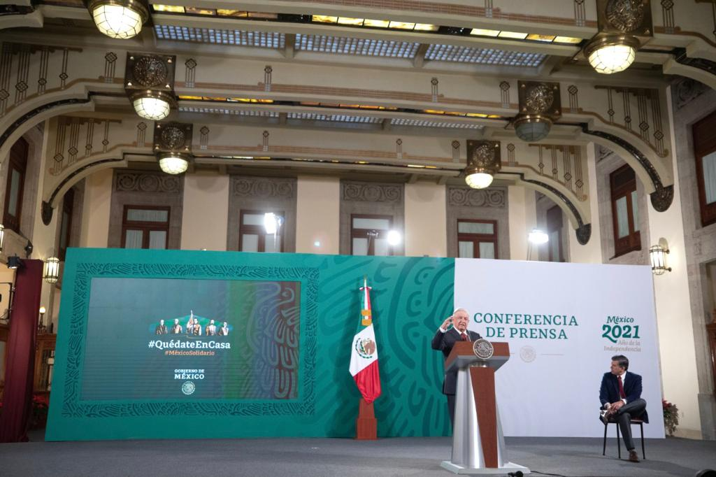 Conferencia de prensa del presidente Andrés Manuel López Obrador del 4 de enero de 2021