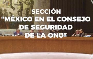 Nueva sección sobre el Consejo de Seguridad de la ONU y la participación de México (2021-2022)