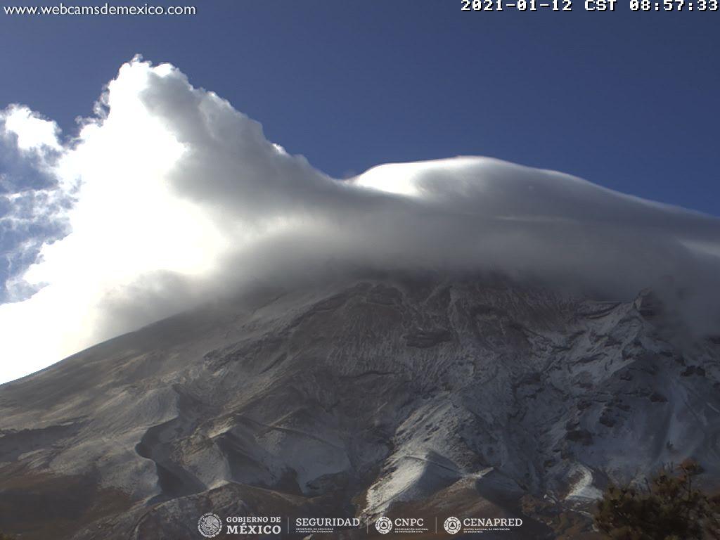 En las últimas 24 horas, mediante los sistemas de monitoreo del volcán Popocatépetl se identificaron 26 exhalaciones.