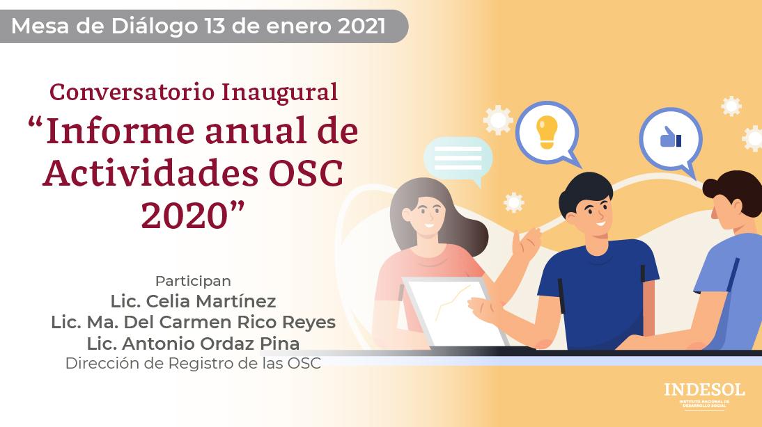 Mesa de Diálogo Informe Anual de Actividades OSC 2020.